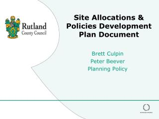 Site Allocations & Policies Development Plan Document