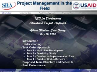 Project Management in the Field