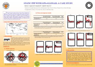 STATIC PPP WITH GPS+GLONASS. A CASE STUDY