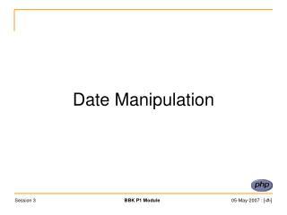 Date Manipulation