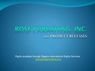 Rose Publishing, Inc.