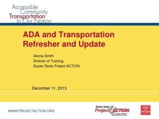 ADA and Transportation Refresher and Update