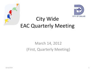 City Wide EAC Quarterly Meeting