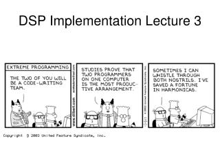 DSP Implementation Lecture 3