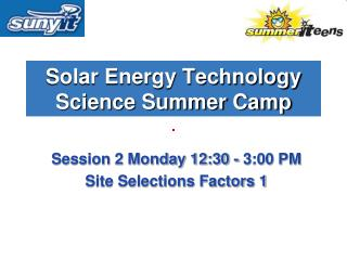 Solar Energy Technology Science Summer Camp
