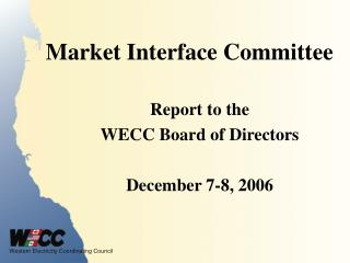 Market Interface Committee