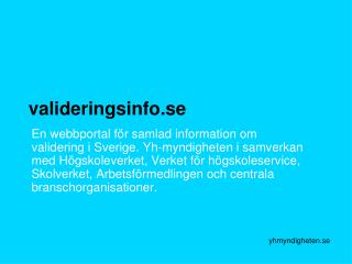valideringsinfo.se