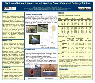 Sediment-Nutrient Interactions in Little Pine Creek Watershed Drainage Ditches