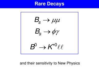 Rare Decays