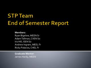 STP Team End of Semester Report