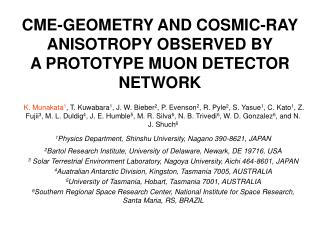 CME-GEOMETRY AND COSMIC-RAY ANISOTROPY OBSERVED BY A PROTOTYPE MUON DETECTOR NETWORK