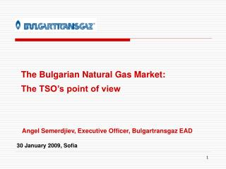 The Bulgarian Natural Gas Market: The TSO's point of view
