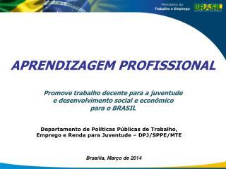 Departamento de Políticas Públicas de Trabalho, Emprego e Renda para Juventude – DPJ/SPPE/MTE
