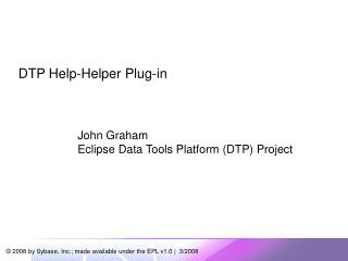 DTP Help-Helper Plug-in