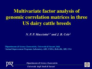 Multivariate factor analysis of genomic correlation matrices in three US dairy cattle breeds