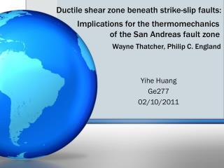 Yihe Huang  Ge277       02/10/2011