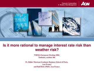 Is it more rational to manage interest rate risk than weather risk?