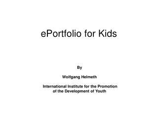 ePortfolio for Kids
