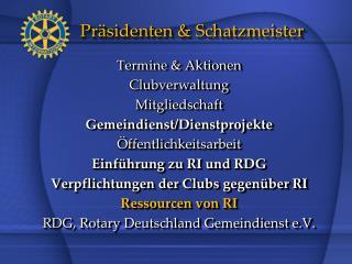 Präsidenten & Schatzmeister
