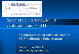 Spectral Characterization of calibration lamps: STIS