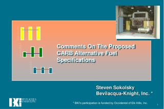 Comments On The Proposed CARB Alternative Fuel Specifications