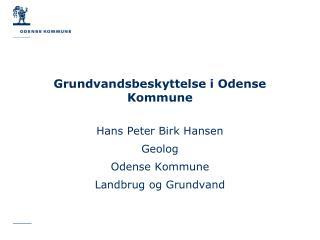 Grundvandsbeskyttelse i Odense Kommune