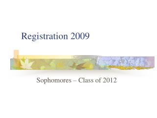 Registration 2009