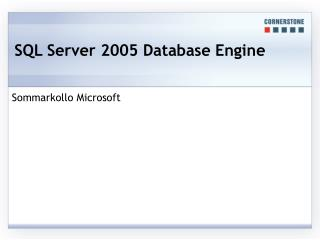 SQL Server 2005 Database Engine
