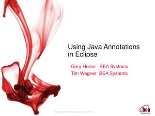 Using Java Annotations in Eclipse