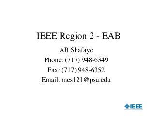 IEEE Region 2 - EAB