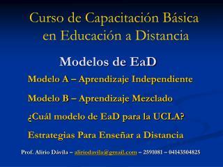Modelos de EaD
