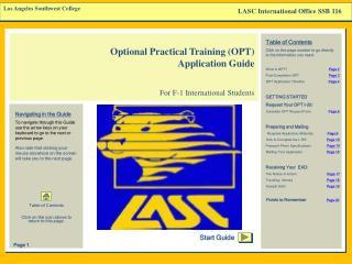 LASC International Office SSB 116