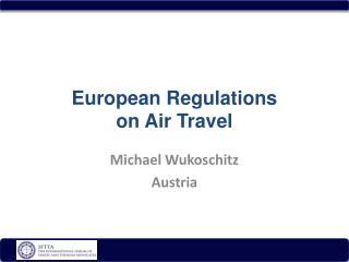 European Regulations on Air Travel