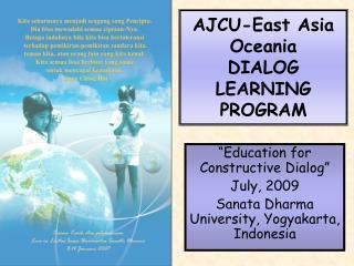 AJCU-East Asia Oceania DIALOG LEARNING PROGRAM