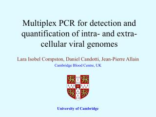 Multiplex PCR for detection and quantification of intra- and extra-cellular viral genomes