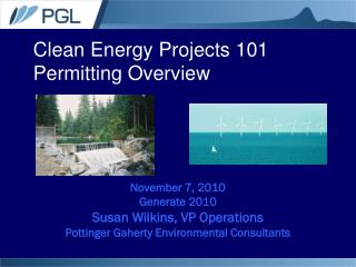 Clean Energy Projects 101 Permitting Overview