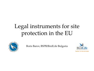 Legal instruments for site protection in the EU