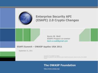 Enterprise Security API (ESAPI) 2.0 Crypto Changes