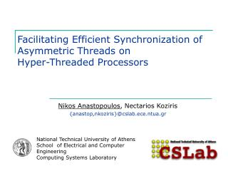 Facilitating Efficient Synchronization of Asymmetric Threads on  Hyper-Threaded Processors
