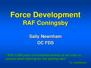 Force Development RAF Coningsby
