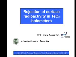 Rejection of surface radioactivity in TeO 2  bolometers