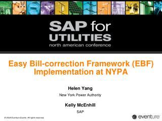Easy Bill-correction Framework (EBF) Implementation at NYPA