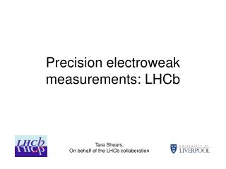 Precision electroweak measurements: LHCb