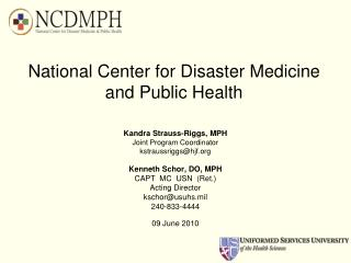 National Center for Disaster Medicine  and Public Health