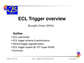 ECL Trigger overview