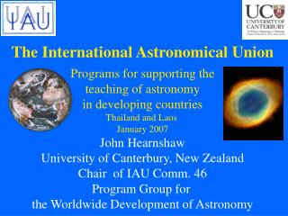 The International Astronomical Union Programs for supporting the teaching of astronomy