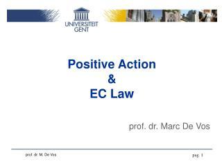 Positive Action & EC Law