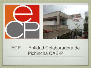 ECP      Entidad Colaboradora de       Pichincha CAE-P