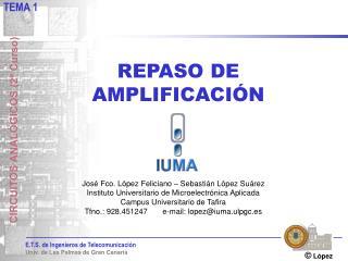 REPASO DE AMPLIFICACIÓN