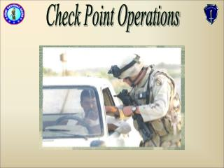 Check Point Operations